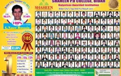 Bidar City's PUC Top IInd Result-2017