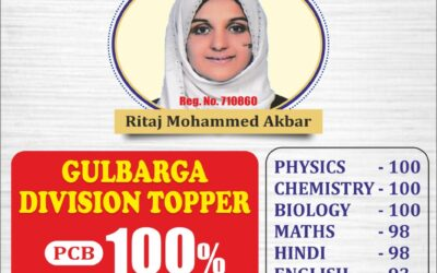 Bidar District PUC 2nd Year 2020 Topper